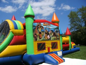Big-Bounce-Rentals-Madagascar-Theme-Rainbow-Combo-8