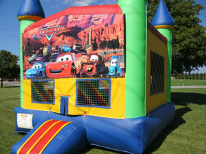 Big-Bounce-Rentals-Rainbow-Castle-Cars-Theme-1