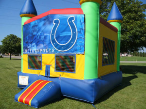 Big-Bounce-Rentals-Rainbow-Castle-Colts-Theme-1